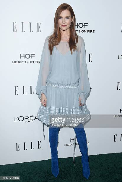Actress Darby Stanchfield arrives at the 23rd Annual ELLE Women In Hollywood Awards at Four Seasons Hotel Los Angeles at Beverly Hills on October 24...
