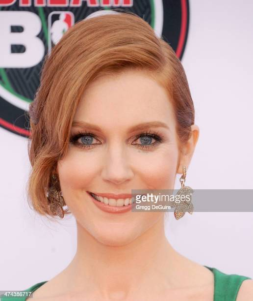 Actress Darby Stanchfield arrives at the 45th NAACP Image Awards at Pasadena Civic Auditorium on February 22 2014 in Pasadena California