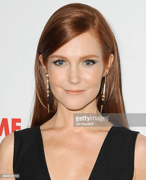 Actress Darby Stanchfield arrives at the International Women's Media Foundation Courage Awards at the Beverly Wilshire Four Seasons Hotel on October...