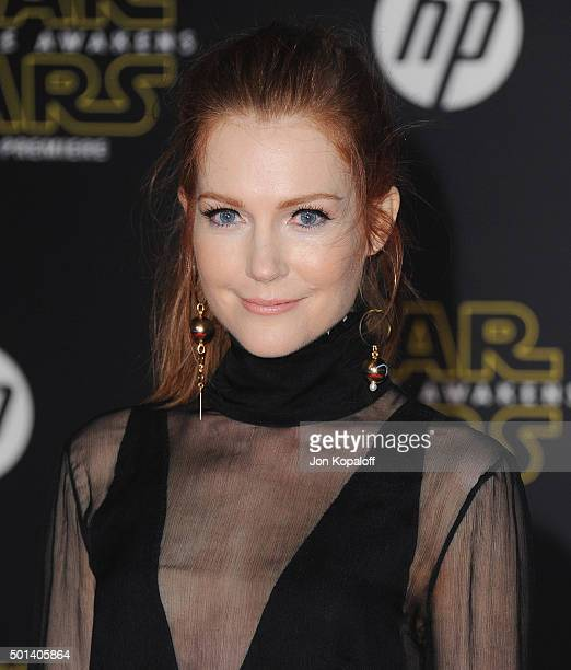 Actress Darby Stanchfield arrives at the Los Angeles Premiere 'Star Wars The Force Awakens' on December 14 2015 in Hollywood California
