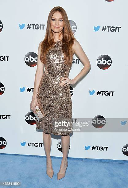 Actress Darby Stanchfield arrives at the #TGIT Premiere Event hosted by Twitter at Palihouse Holloway on September 20 2014 in West Hollywood...