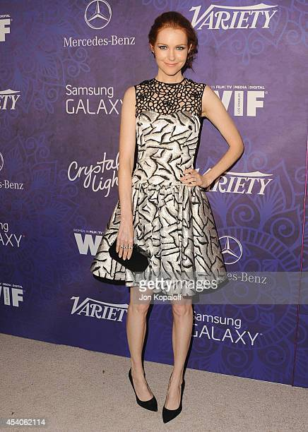 Actress Darby Stanchfield arrives at Variety And Women In Film Annual PreEmmy Celebration at Gracias Madre on August 23 2014 in West Hollywood...