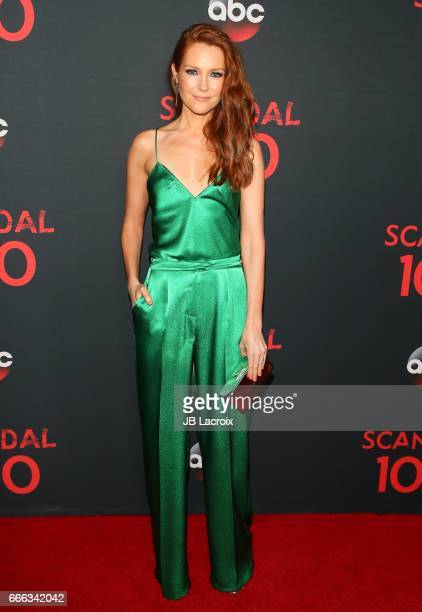 Actress Darby Stanchfield attends ABC's 'Scandal' 100th episode celebration on April 8 2017 in West Hollywood California
