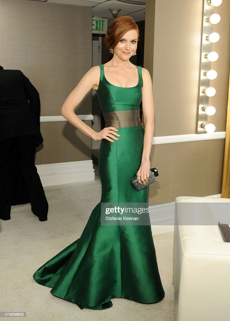 Actress Darby Stanchfield attends the 16th Costume Designers Guild Awards with presenting sponsor Lacoste at The Beverly Hilton Hotel on February 22, 2014 in Beverly Hills, California.