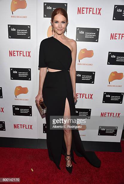 Actress Darby Stanchfield attends the 2015 IDA Documentary Awards at Paramount Studios on December 5 2015 in Hollywood California