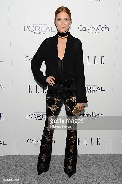 Actress Darby Stanchfield attends the 22nd Annual ELLE Women in Hollywood Awards at Four Seasons Hotel Los Angeles at Beverly Hills on October 19...