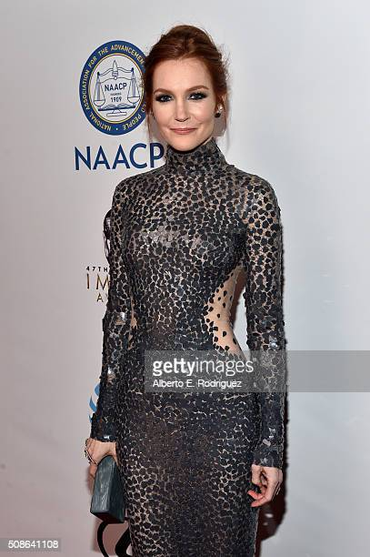 Actress Darby Stanchfield attends the 47th NAACP Image Awards presented by TV One at Pasadena Civic Auditorium on February 5 2016 in Pasadena...