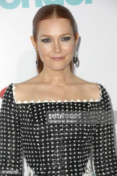 Actress Darby Stanchfield attends the Premiere of Lionsgate's 'Wonder' at the Regency Village Theatre on November 14 2017 in Westwood California