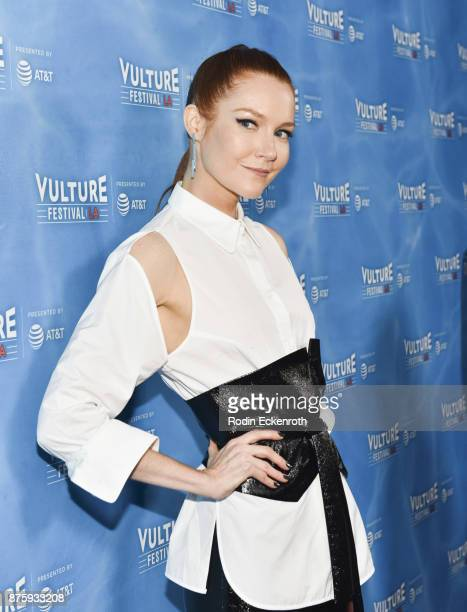 Actress Darby Stanchfield attends the Scandal Final Season Panel at Vulture Festival Los Angeles at Hollywood Roosevelt Hotel on November 18 2017 in...