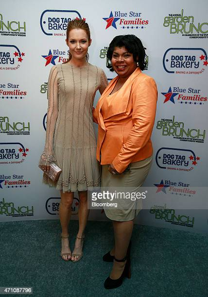 Actress Darby Stanchfield left and journalist April Ryan attend the 22nd Annual White House Correspondents' Garden Brunch in Washington DC US on...