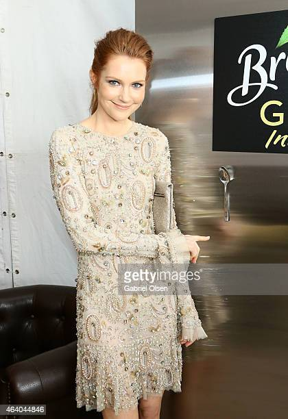 Actress Darby Stanchfield stopped by the Breyers Gelato Indulgences Lounge backstage at the 30th Annual Film Independent Spirit Awards on February 21...