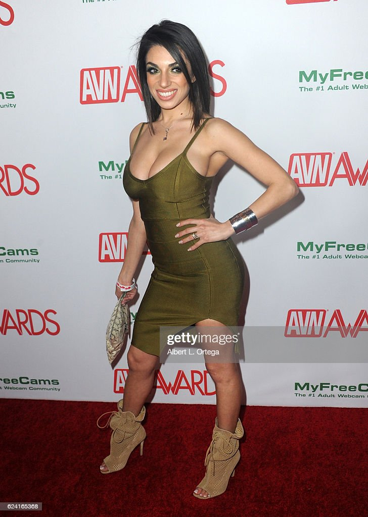 Actress Darcie Dolce Arrives For The 2017 AVN Awards Nomination Party Held At Avalon On November
