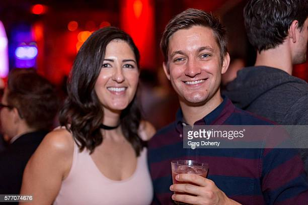 """Actress D'Arcy Carden and Writer/Director Chris Kelly pose for a picture at the 2016 Outfest Los Angeles Closing Night Gala Of """"Other People"""" After..."""