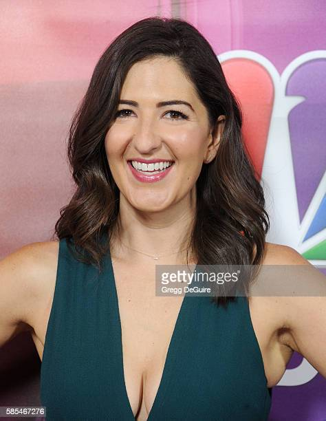 Actress D'Arcy Carden arrives at the 2016 Summer TCA Tour NBCUniversal Press Tour Day 1 at The Beverly Hilton Hotel on August 2 2016 in Beverly Hills...