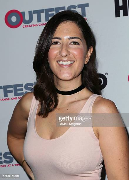 Actress D'Arcy Carden attends the 2016 Outfest Los Angeles Closing Night Gala of 'Other People' at The Theatre at Ace Hotel on July 17 2016 in Los...