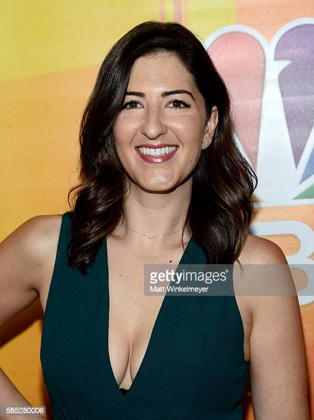 Actress D'Arcy Carden attends the NBCUniversal press day during the 2016 Summer TCA Tour at The Beverly Hilton Hotel on August 2 2016 in Beverly...