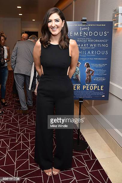 Actress D'Arcy Carden attends the premiere of Vertical Entertainment's Other People at The London West Hollywood on August 31 2016 in West Hollywood...