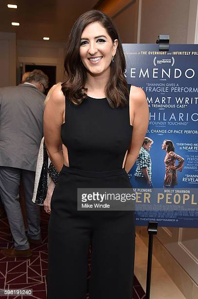 Actress D'Arcy Carden attends the premiere of Vertical Entertainment's 'Other People' at The London West Hollywood on August 31 2016 in West...