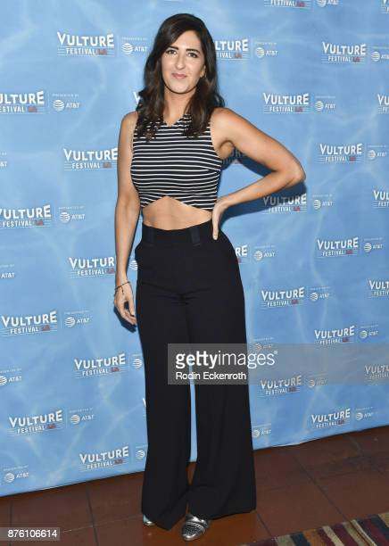 Actress D'Arcy Carden attends the 'UNReal vs Superstore PopCulture Trivia Game Show' at Vulture Festival Los Angeles at Hollywood Roosevelt Hotel on...