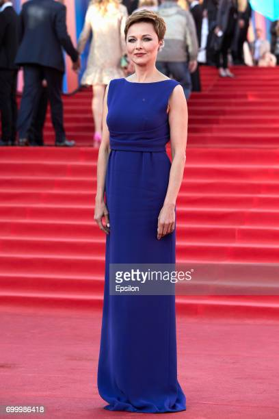 Actress Darya Poverennova attends opening of the 39th Moscow International Film Festival outside the Karo 11 Oktyabr Cinema on June 22 2017 in Moscow...