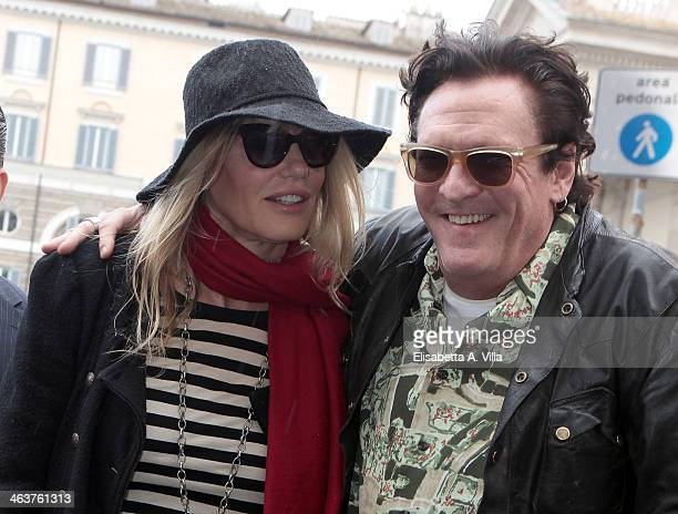 Actress Daryl Hannah and actor Michael Madsen are sighted at Piazza Del Popolo on January 19 2014 in Rome Italy