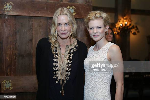 Actress Daryl Hannah and Angel McCord attends the Somaly Mam Foundation's Disrupting Slavery Benefit Gala at 41 Ocean on June 13 2013 in Santa Monica...