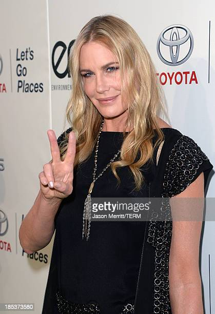 Actress Daryl Hannah arrives at the 23rd Annual Environmental Media Awards presented by Toyota and Lexus at Warner Bros Studios on October 19 2013 in...