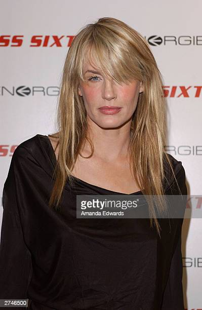Actress Daryl Hannah arrives at the Miss Sixty and Energie official store opening at the Miss Sixty store on Melrose Avenue on November 19 2003 in...