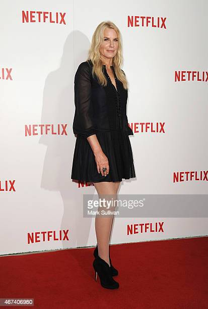 Actress Daryl Hannah arrives for the Netflix Australia New Zealand launch party at Museum of Contemporary Art on March 24 2015 in Sydney Australia