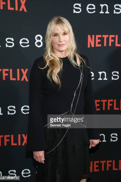 Actress Daryl Hannah attends the Sense8 New York premiere at AMC Lincoln Square Theater on April 26 2017 in New York City