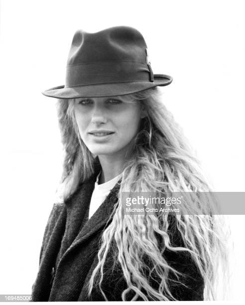 Actress Daryl Hannah poses for a portrait on the set of Splash in circa 1984