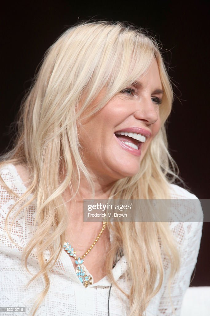 Actress Daryl Hannah speaks onstage during the 'Sense8' panel discussion at the Netflix portion of the 2015 Summer TCA Tour at The Beverly Hilton Hotel on July 28, 2015 in Beverly Hills, California.