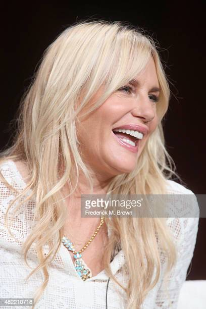 Actress Daryl Hannah speaks onstage during the Sense8 panel discussion at the Netflix portion of the 2015 Summer TCA Tour at The Beverly Hilton Hotel...
