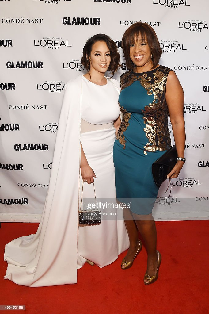 Actress Dascha Polanco (L) and Gayle King attend 2015 Glamour Women Of The Year Awards at Carnegie Hall on November 9, 2015 in New York City.