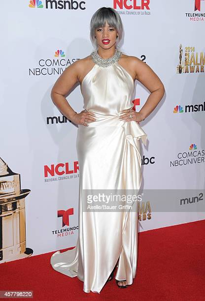 Actress Dascha Polanco arrives at the 2014 NCLR ALMA Awards at Pasadena Civic Auditorium on October 10 2014 in Pasadena California
