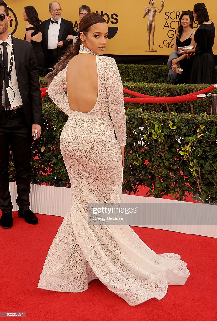 Actress Dascha Polanco arrives at the 21st Annual Screen Actors Guild Awards at The Shrine Auditorium on January 25, 2015 in Los Angeles, California.