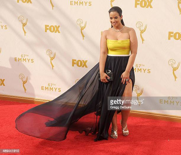 Actress Dascha Polanco arrives at the 67th Annual Primetime Emmy Awards at Microsoft Theater on September 20 2015 in Los Angeles California