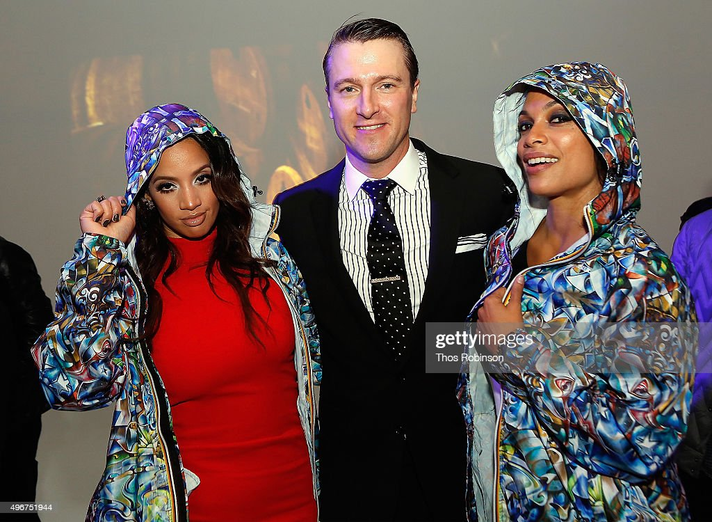 Actress Dascha Polanco, artist Jack Laroux, and actress Rosario Dawson attend Courvoisier Cognac's Exceptional Journey Campaign Celebration on November 11, 2015 in New York City.