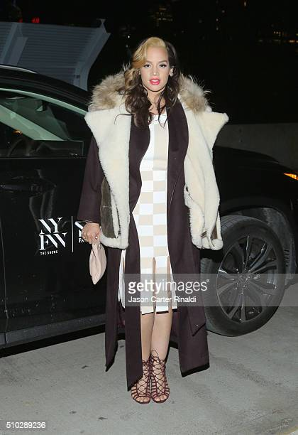 Actress Dascha Polanco attends Lexus' Design Disrupted with Opening Ceremony at Pier 90 on February 14 2016 in New York City