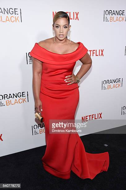 Actress Dascha Polanco attends 'Orange Is The New Black' premiere at SVA Theater on June 16 2016 in New York City