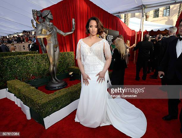 Actress Dascha Polanco attends the 22nd Annual Screen Actors Guild Awards at The Shrine Auditorium on January 30 2016 in Los Angeles California