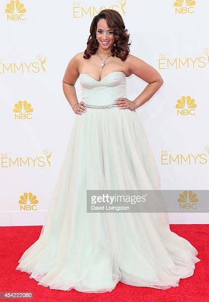 Actress Dascha Polanco attends the 66th Annual Primetime Emmy Awards at the Nokia Theatre LA Live on August 25 2014 in Los Angeles California