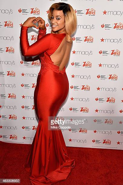 Actress Dascha Polanco attends the Go Red For Women Red Dress Collection 2015 presented by Macy'sfashion show during MercedesBenz Fashion Week Fall...