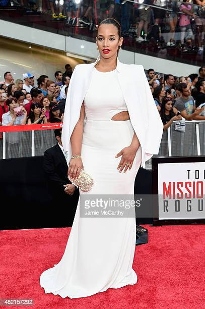 Actress Dascha Polanco attends the 'Mission Impossible Rogue Nation' New York premiere at Duffy Square in Times Square on July 27 2015 in New York...