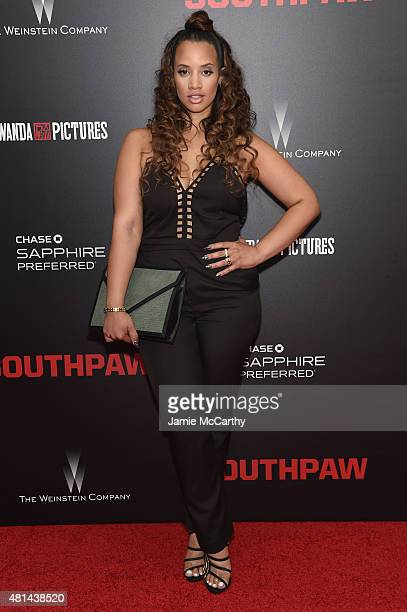 Actress Dascha Polanco attends the New York premiere of 'Southpaw' at AMC Loews Lincoln Square on July 20 2015 in New York City