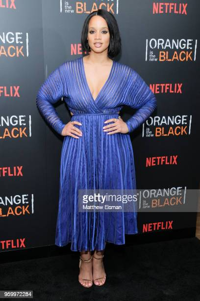 Actress Dascha Polanco attends the 'Orange Is The New Black' EMMY FYC red carpet at Crosby Street Hotel on May 18 2018 in New York City