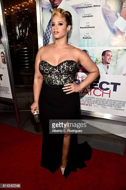 Actress Dascha Polanco attends the premiere of Lionsgate's 'The Perfect Match' at ArcLight Hollywood on March 7 2016 in Hollywood California