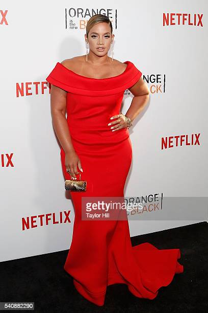 Actress Dascha Polanco attends the premiere of 'Orange is the New Black' at SVA Theater on June 16 2016 in New York City