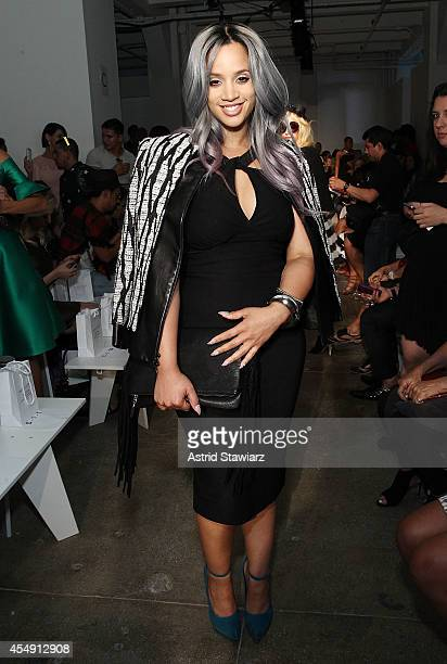Actress Dascha Polanco attends the Rolando Santana Spring 2015 fashion show during MercedesBenz Fashion Week Spring 2015 on September 7 2014 in New...