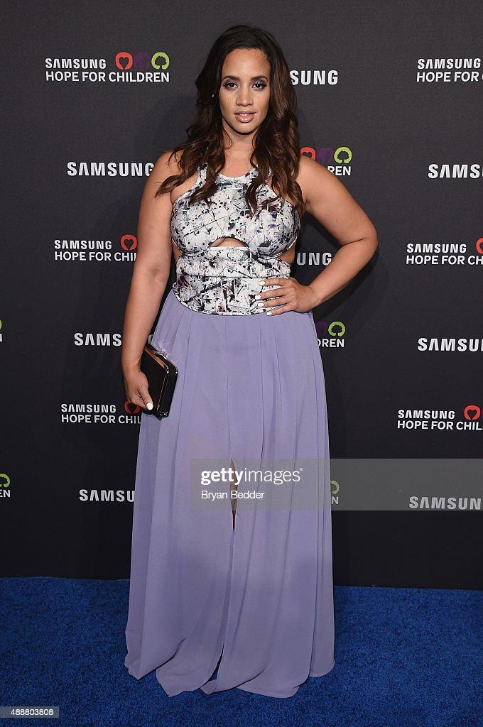 Actress Dascha Polanco attends the Samsung Hope for Children Gala 2015 at Hammerstein Ballroom on September 17, 2015 in New York City.